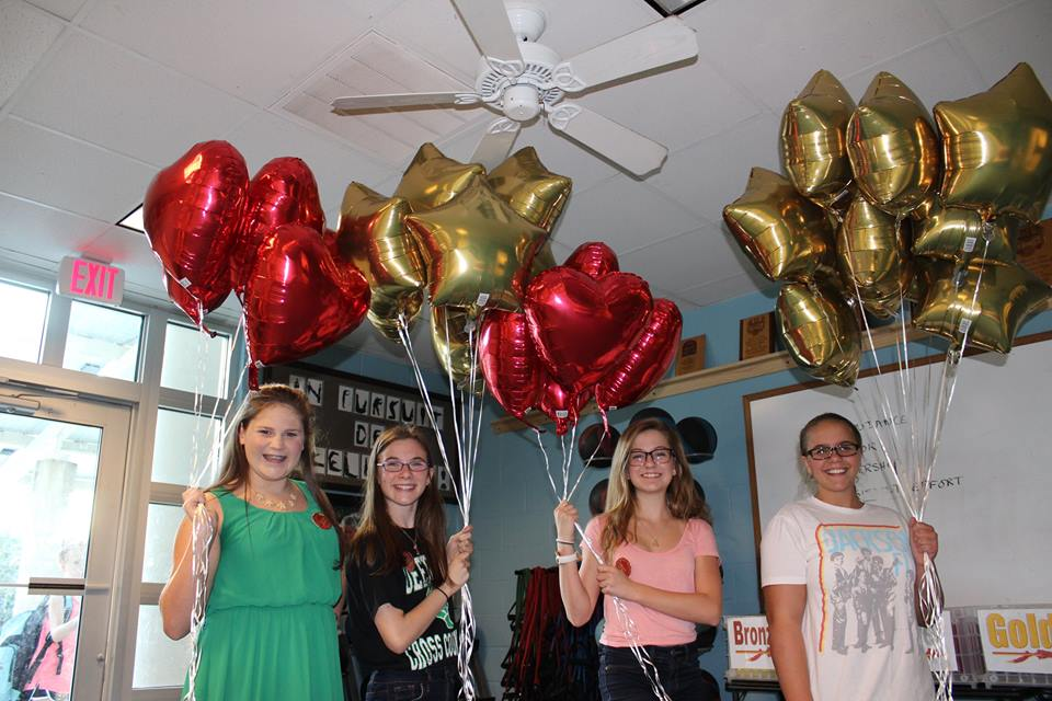 JO girls balloons