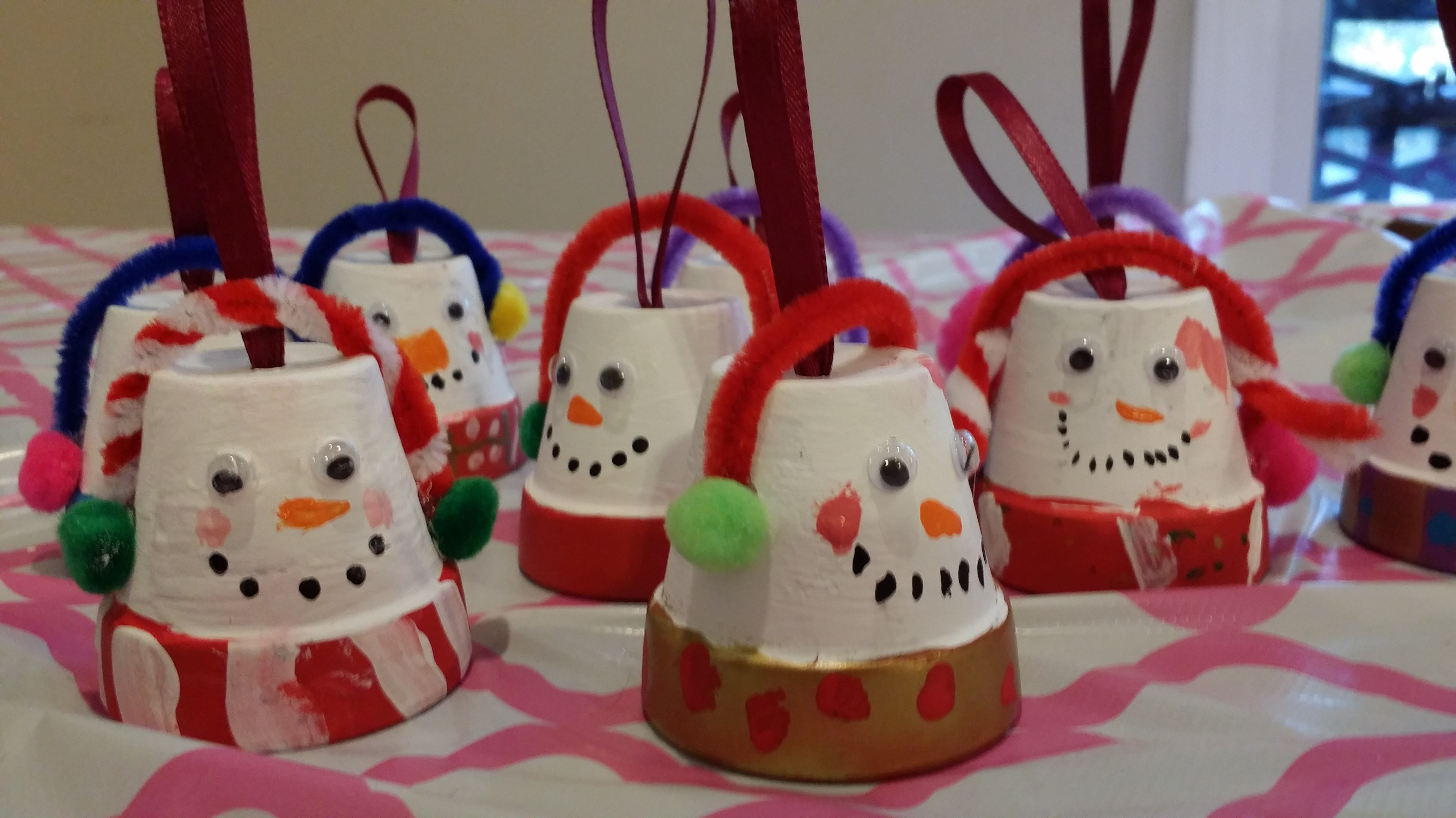 Just a few of the beautiful ornaments hand crafted by our swimmers!