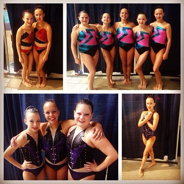 A beautiful collage of the Age Group Team and Extra Routines that competed at the 2014 eSynchro Age Group National Competition in Seattle Washington June 27-30, 2014