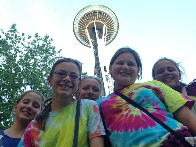 The Age Group Team having fun exploring Seattle, Washington during the 2014 eSynchro Age Group National Competition in Seattle, Washington June 27-30, 2014.